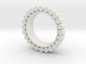 Bullet ring(size is = USA 5) in White Natural Versatile Plastic