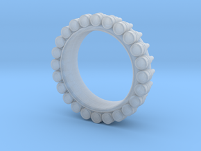 Bullet ring(size is = USA 5) in Smooth Fine Detail Plastic
