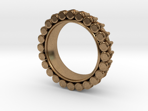 Bullet ring(size = USA 6) in Natural Brass