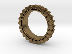 Bullet ring(size = USA 6.5) in Natural Bronze