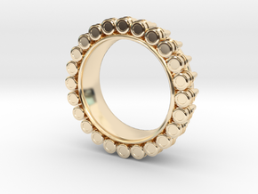 Bullet ring(size = USA 6.5-7) in 14K Yellow Gold