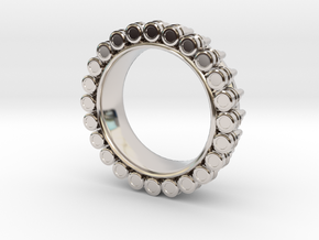 Bullet ring(size = USA 6.5-7) in Platinum