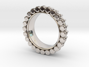 Bullet ring(size = USA 7-7.5) in Platinum