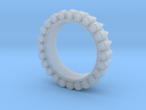 Bullet ring(size = USA 7-7.5) in Smooth Fine Detail Plastic
