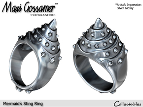 Mermaid's Sting Ring in Polished Silver