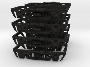 4 pairs, 41-E type 4-wheel trucks (1/160) in Black Acrylic
