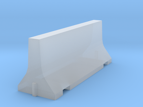 N Scale 8 Foot Jersey Barrier in Smooth Fine Detail Plastic