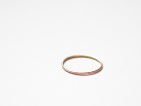 """Ring """"Solo"""" / size 7.5 in Natural Bronze"""