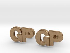 Monogram Cufflinks GP in Natural Brass