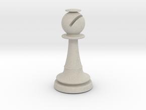 Inception Bishop Chess Piece (Lite) in Natural Sandstone