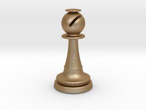 Inception Bishop Chess Piece (Heavy) in Matte Gold Steel