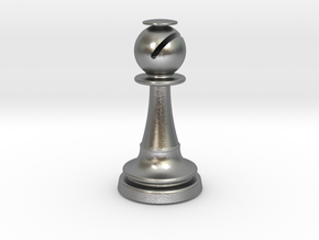 Inception Bishop Chess Piece (Heavy) in Natural Silver