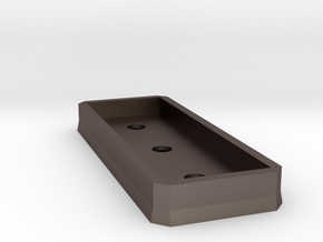 Low profile support platform (n-scale) in Polished Bronzed Silver Steel