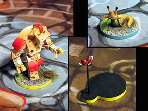 Cheese Golem, Ladybug, 4 Slugs in Frosted Ultra Detail