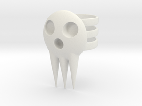 Death Jr Ring in White Natural Versatile Plastic