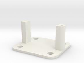 SG90 Servo Mount - Type 2 in White Natural Versatile Plastic