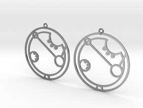 April - Earrings - Series 1 in Fine Detail Polished Silver