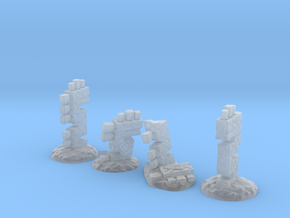 Serpent Columns (24mm high) in Smooth Fine Detail Plastic