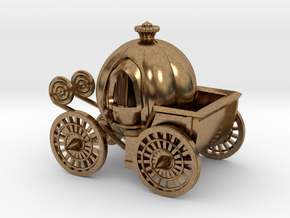 Pumpkin carriage in Natural Brass
