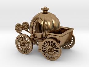 Pumpkin carriage in Natural Brass
