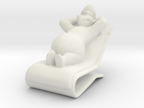 Cartoon bear Sun Bathing in White Natural Versatile Plastic