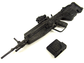 1:6 Designated Marksman Rifle Human Sized in White Natural Versatile Plastic