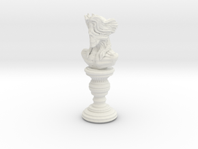 Creature statue - 01_60 in White Natural Versatile Plastic