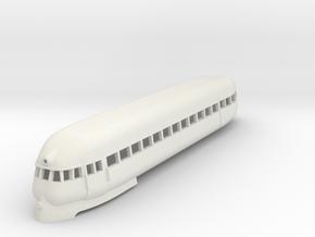 1/87 PULLMAN RAILPLANE CAR in White Natural Versatile Plastic
