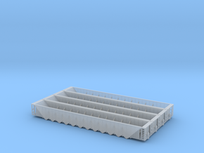 Twelve Bay Rapid Discharge Hopper - Set of 4 - Zsc in Smooth Fine Detail Plastic