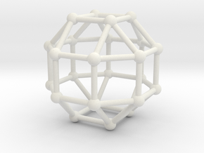 Rhombicuboctahedron in White Natural Versatile Plastic