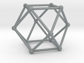 Cuboctahedron in Polished Metallic Plastic