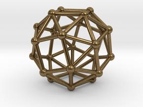Snub Cube (left-handed) in Natural Bronze