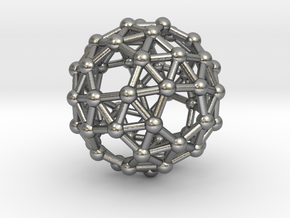 Snub Dodecahedron (left-handed) in Natural Silver