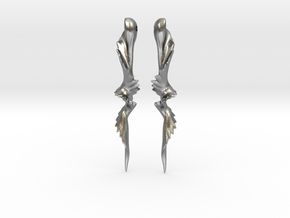 Temporal Twist Drop Earrings in Natural Silver