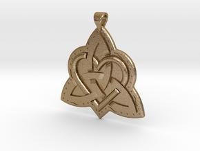 Celtic Knot 2 Pendant in Polished Gold Steel