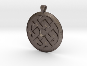 Celtic Knot 1 Pendant in Polished Bronzed Silver Steel