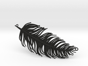 Pendant feather in Black Natural Versatile Plastic