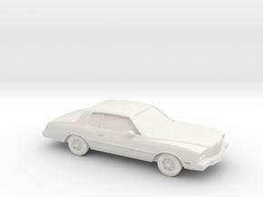 1/87 1980 Chevrolet Monte Carlo in White Strong & Flexible