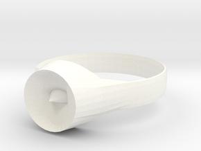 New Ring Design  in White Processed Versatile Plastic