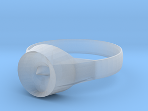 New Ring Design  in Smooth Fine Detail Plastic