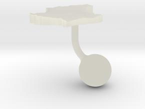 Luxembourg Terrain Cufflink - Ball in Transparent Acrylic