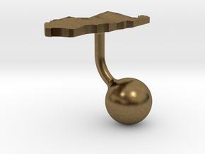 Palau Terrain Cufflink - Ball in Natural Bronze