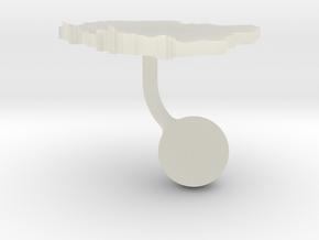 Poland Terrain Cufflink - Ball in Transparent Acrylic