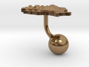 Romania Terrain Cufflink - Ball in Natural Brass