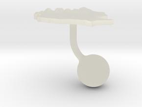 Romania Terrain Cufflink - Ball in Transparent Acrylic