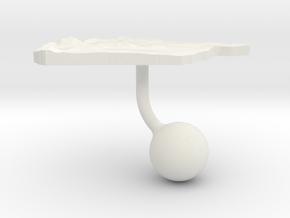 Syria Terrain Cufflink - Ball in White Natural Versatile Plastic