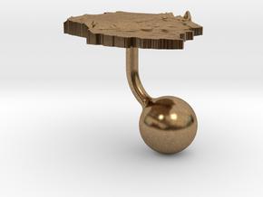 Tanzania Terrain Cufflink - Ball in Natural Brass