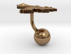 Venezuela Terrain Cufflink - Ball in Natural Brass