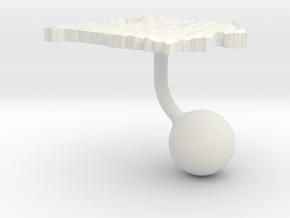Belarus Terrain Cufflink - Ball in White Natural Versatile Plastic