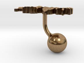 Switzerland Terrain Cufflink - Ball in Natural Brass